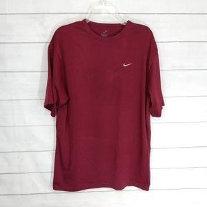 Nike Dry Fit burgundy tee size medium